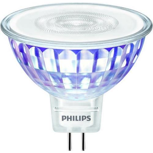 LED žárovka GU5,3 MR16 Philips 7W (50W) teplá bílá (2700K) stmívatelná, reflektor 12V 36°