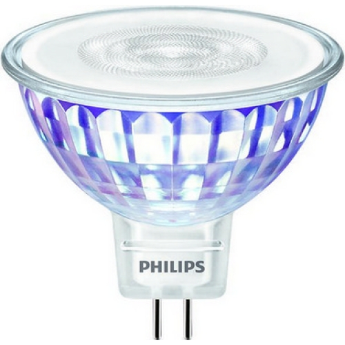 LED žárovka GU5,3 MR16 Philips 7W (50W) teplá bílá (3000K) stmívatelná, reflektor 12V 36°