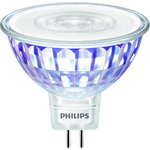 LED žárovka GU5,3 MR16 Philips 7W (50W) teplá bílá (3000K), reflektor 12V 36°