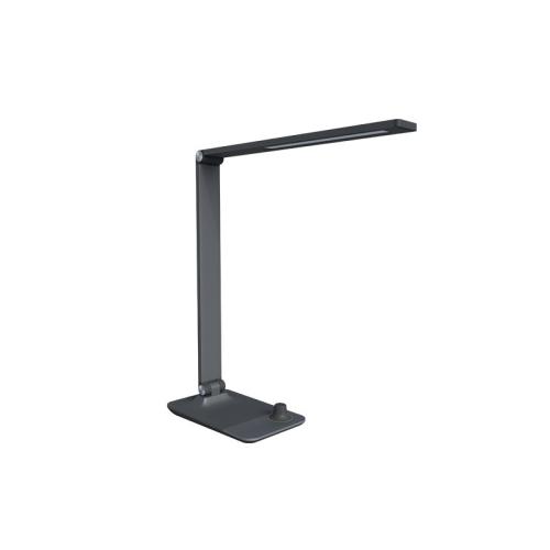 Stolní lampička LED Panlux MASTER šedá s bezdrátovým nabíjením nočním světlem stmívací PN15300021