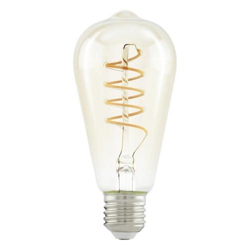 LED žárovka E27 Eglo 11681 Spiral jantar ST64 4W (25W) teplá bílá (2200K)