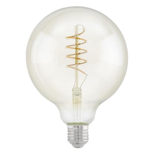 LED žárovka E27 Eglo 11683 Spiral jantar G125 4W (25W) teplá bílá