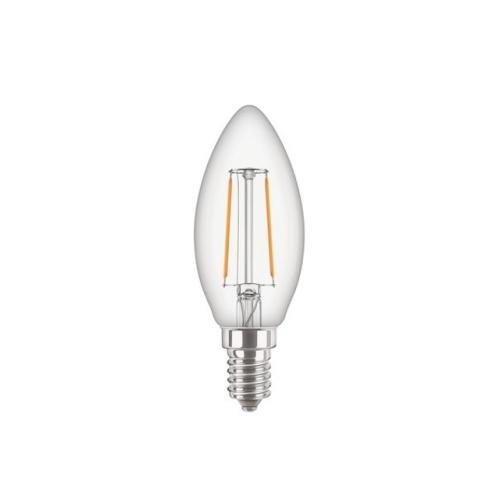 LED žárovka E14 PILA Classic Filament B35 4,3W (40W) teplá bílá (2700K), svíčka