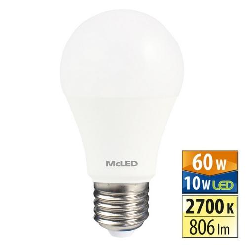 LED žárovka E27 McLED 10W (60W) teplá bílá (2700K) ML-321.088.87.0