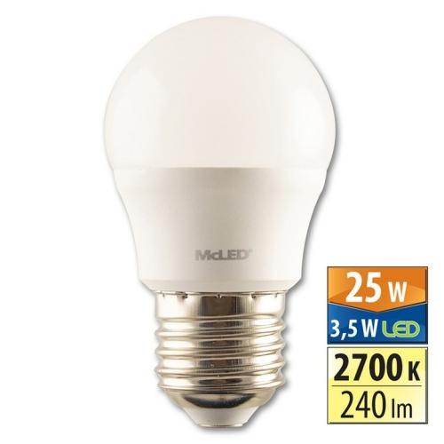 LED žárovka E27 McLED 3,5W (25W) teplá bílá (2700K) ML-324.027.87.0