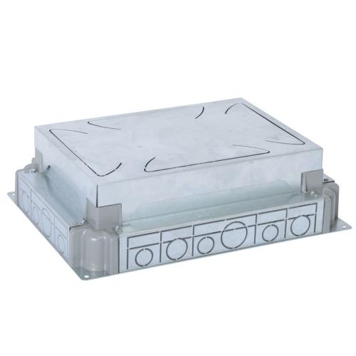 Kovová instalační krabice do betonové podlahy Legrand 088090 pro 8 a 12 modulů