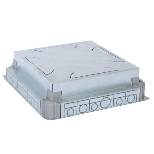 Kovová instalační krabice do betonové podlahy Legrand 088092 pro 16 a 24 modulů