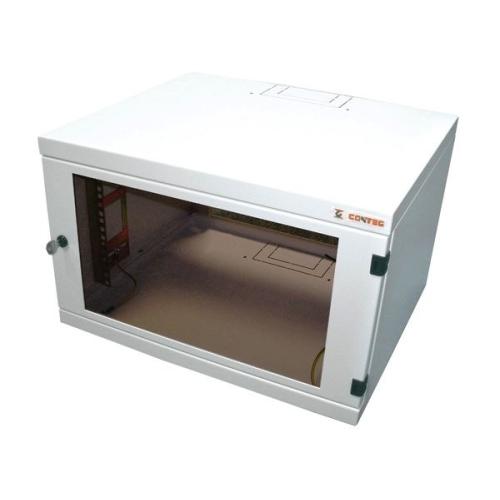 """Nástěnný datový rozvaděč 19"""" výška 12U (599mm) H=400mm Š=530mm šedý Conteg iSEVEN REN-12-60/40-B"""