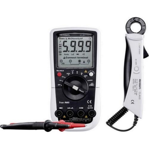 Digitální multimetr s adaptérem proudových kleští VOLTCRAFT VC281 1647183