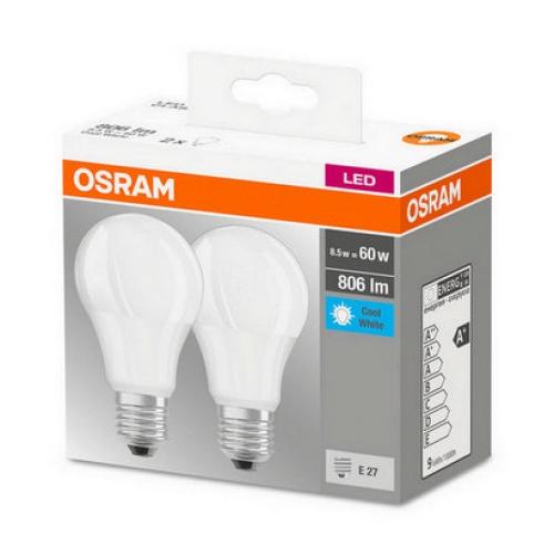 LED žárovka Osram BASECLA60 8,5W (60W) neutrální bílá (4000K) E27, 2ks v balení