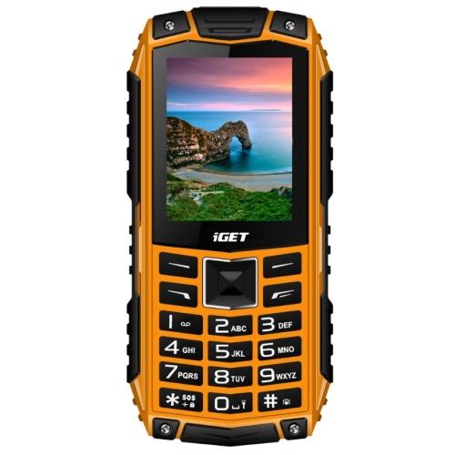 Odolný tlačítkový telefon iGET DEFENDER D10 Orange