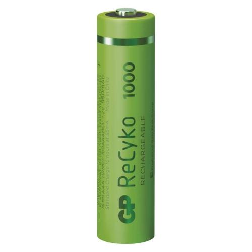 Nabíjecí mikrotužkové baterie AAA GP ReCyko HR03 1000mAh NiMH B2111