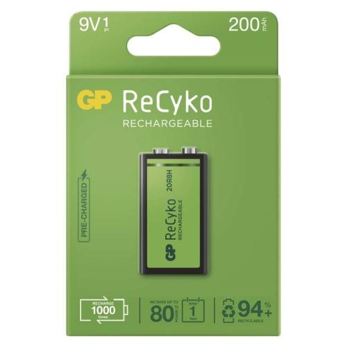 Nabíjecí baterie 9V GP ReCyko 200 20R8H 200mAh NiMH